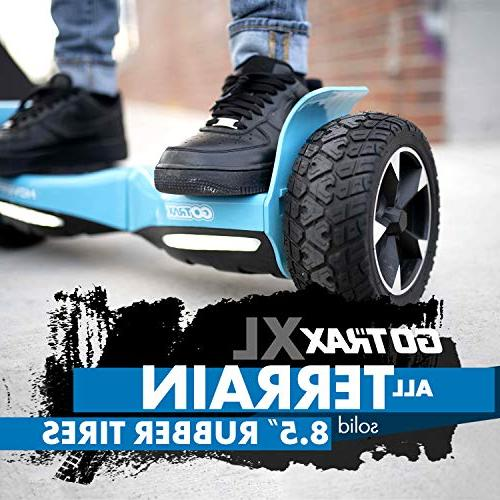 GOTRAX Terrain Hover Board Solid Rubber UL2272 Certified Off Road Hoverboard