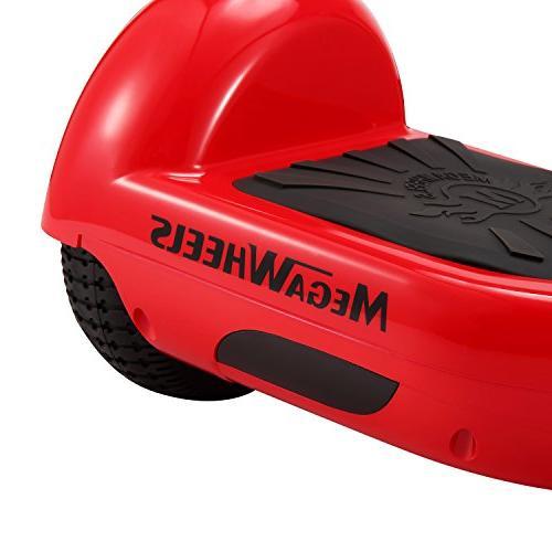 "tebisi 6.5"" inch Board Electric Self Scooter LED - UL2272 Fiber/Spider/Built-in Black Red Gold"
