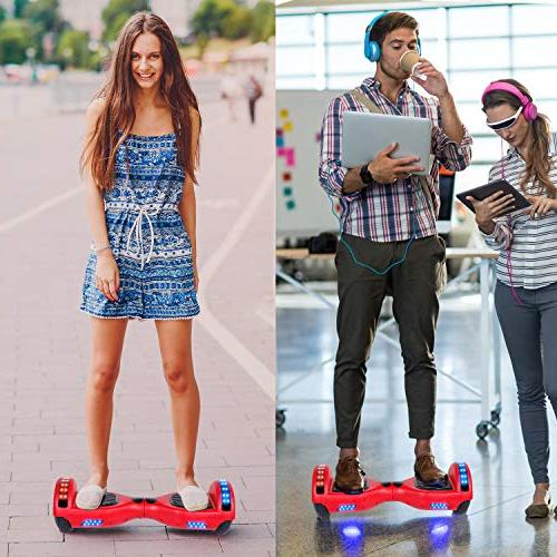 "Felimoda 6.5"" inch Electric Smart Self Scooter Wireless Speaker LED Wheels and Lights-"