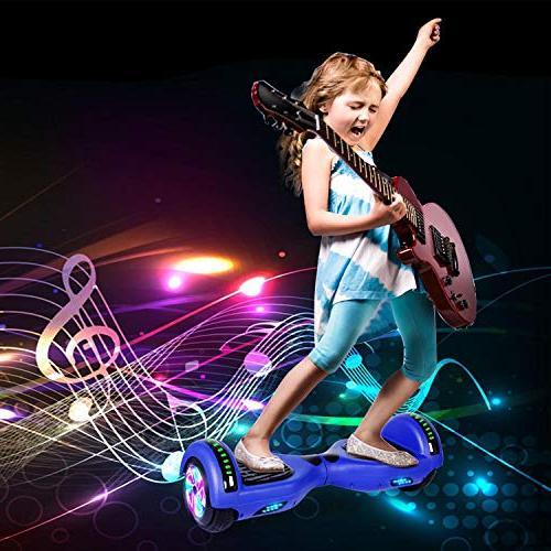 Felimoda Wheels Smart Balancing Scooter Wireless LED Light-UL 2272 Kids Gift and