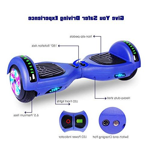 """Felimoda 6.5"""" Balancing Hoverboard Wireless 2272 Gift and Adult,Blue"""