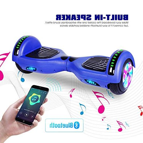 """Felimoda 6.5"""" Wheels Balancing Scooter Hoverboard with Wireless Speaker Light-UL 2272 Kids Gift and Adult,Blue"""