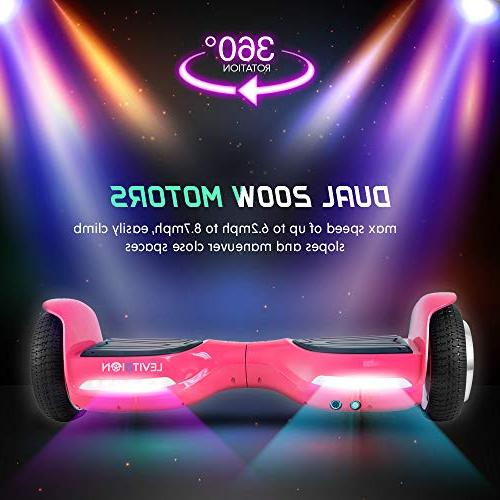 """Levit8ion 6.5"""" Hoverboard - 2 Electric - Bluetooth w/Speaker, Wheels and"""
