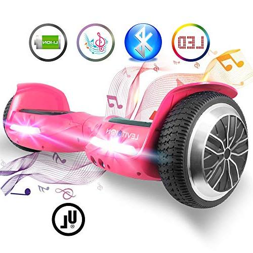 """Levit8ion 6.5"""" Hoverboard - Scooter 2 Wheel Electric - UL Bluetooth w/Speaker, LED and LED Lights"""