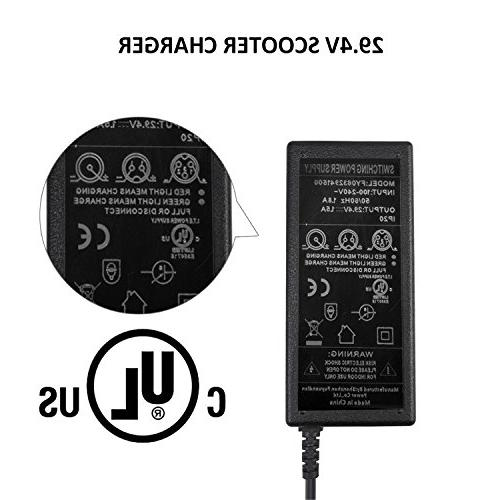 Perry Charger, 29.4V 1.5A 50W Bike Lithium Charger for Board/Electric