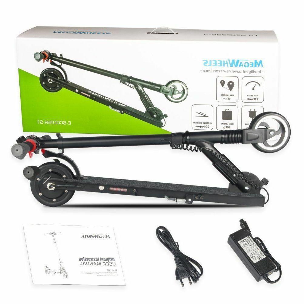 Megawheel S1 White 2 Wheel Portable E-scooter 250W