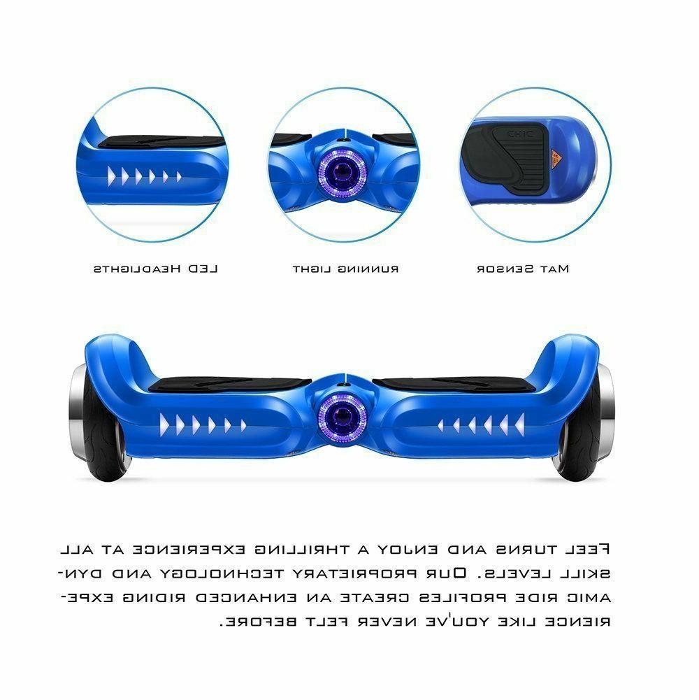 "Bluetooth Hoverboard LED Hoover Board NHT 6.5"" Chrome Self S"