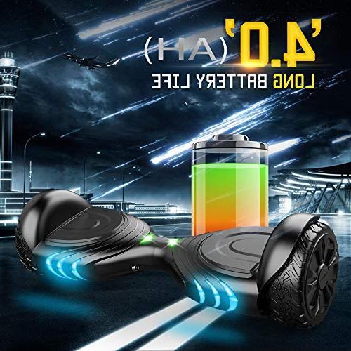 TOMOLOO Music-Rhythmed for Kids Adult Two-Wheel Scooter- Certificated with Speaker- Colorful RGB LED