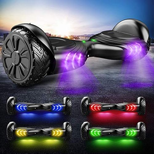 TOMOLOO Music-Rhythmed for Kids and Adult Two-Wheel Certificated with Colorful RGB LED