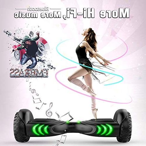 TOMOLOO Music-Rhythmed for Kids Adult Two-Wheel Self-Balancing Certificated Music Colorful LED