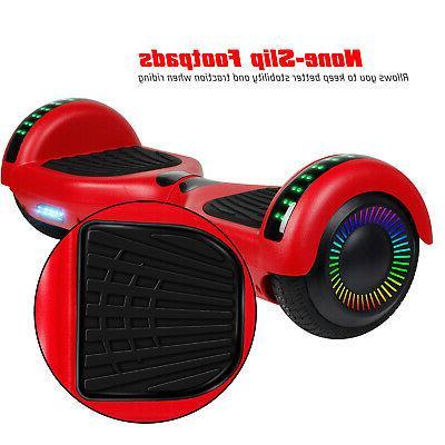 New Hoverboard inch w/Bluetooth Speaker Wheels Side Lights UL Bag