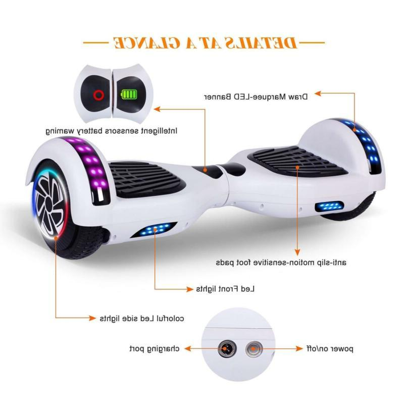 Power Hover Board Balancing Scooter UL2272 LED Gift
