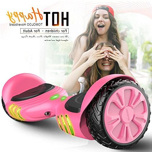 TOMOLOO Racing-Grade Widened Tires LED Kids and Music RGB