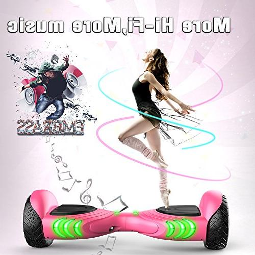 TOMOLOO LED and Adult Two-Wheel Scooter- Certificated Music Speaker- Light
