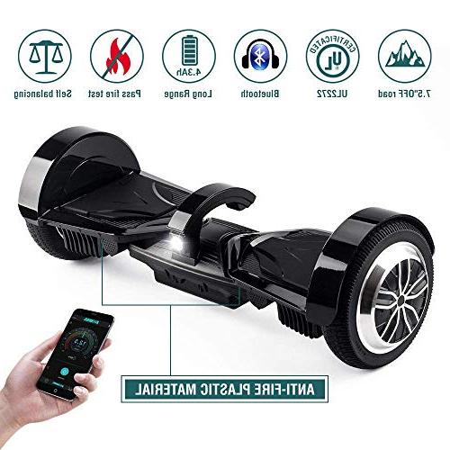 """Koowheel Hoverboard 7.5"""" Terrain with Bluetooth Speakers and LED Wheel for Enabled"""