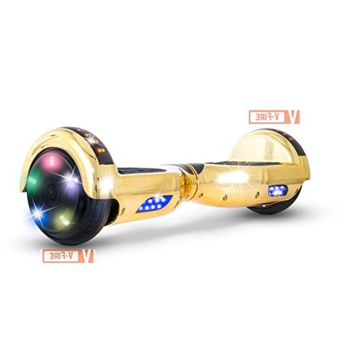 V-Fire Self Scooter - Two-Wheel with and Colorful LED Lights - UL 2272