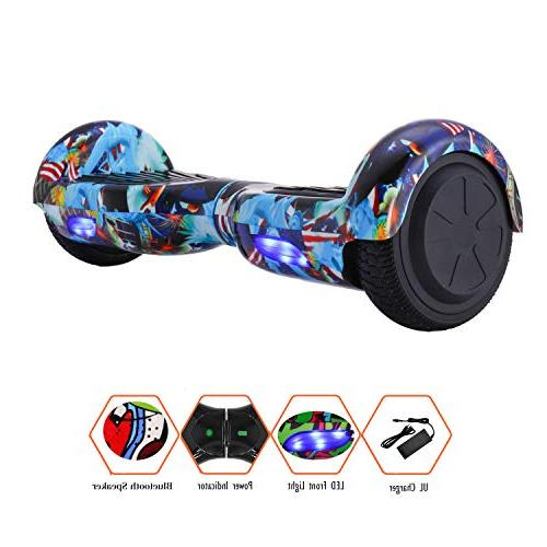 CXM Hoverboard Certified 6.5-inch Wheeled Bluetooth Two-Wheeled Electric for Adults