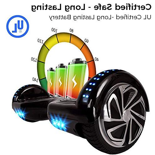 WorryFree Self-Balancing Hoverboard w/Bluetooth Speaker, UL2272 - LED Lights Light-up Wheels