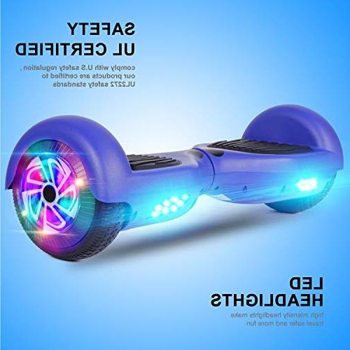 Felimoda Self Hoverboards with LED Carrying Wheel Electric for Certified