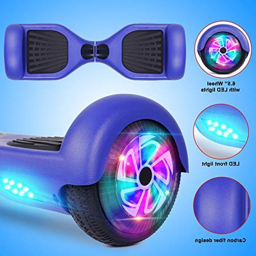 Felimoda Hoverboards with LED Carrying Inch Wheel Smart Electric for and Certified