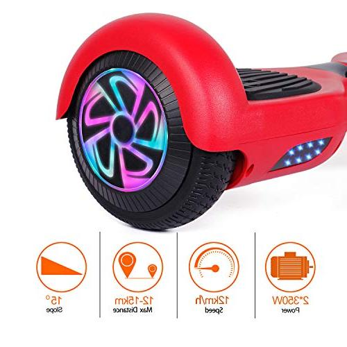 Felimoda Self Balancing Scooter Certified Dual Light Child and