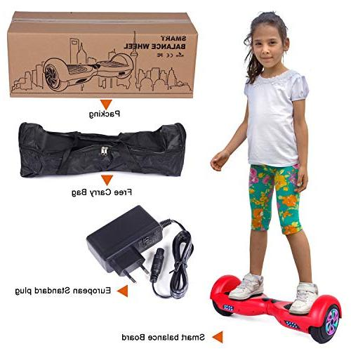 Felimoda 6.5 Inch Self Balancing Certified Light Charger for Child and