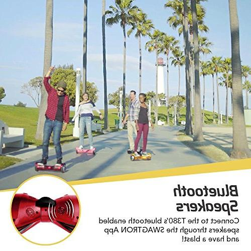 Swagtron Hoverboard - Bluetooth Speaker Lights, Personalize Experience
