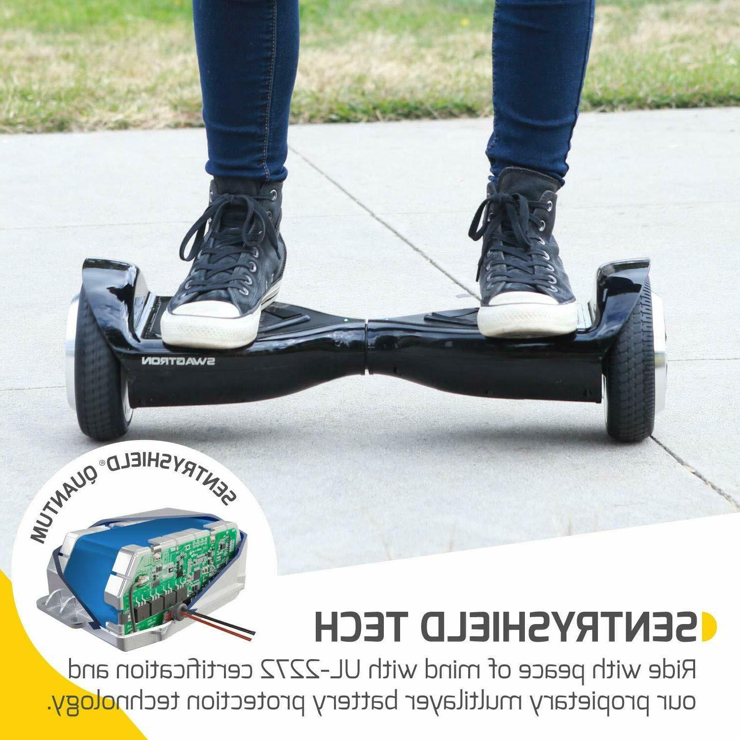 Swagtron Hoverboard Bluetooth Self-Balancing Scooter