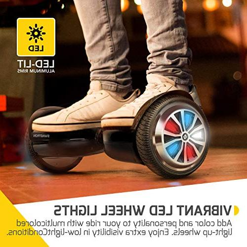 Swagtron App-Enabled Hoverboard Light-Up Scooter w/Optional UL2272