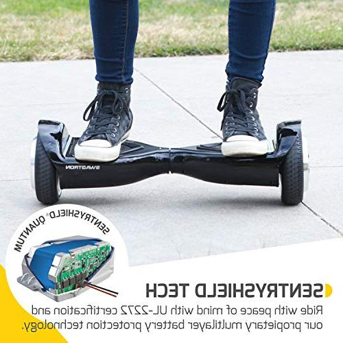 Swagtron T500 App-Enabled Hoverboard for Light-Up Scooter w/Optional Mode, UL2272