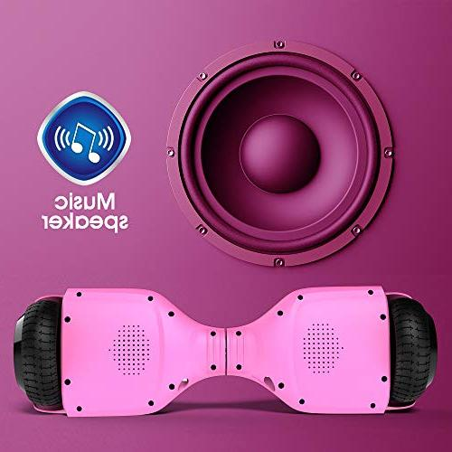 Gyroor Hoverboard Speaker Lights, 6.5 inch Electric for UL2272 Certificated