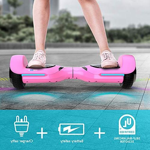 Gyroor Hoverboard Self Balancing Speaker LED inch Two-Wheel Electric Scooter for Adult - UL2272
