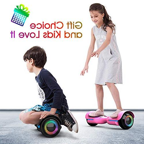 Gyroor T580 Self Balancing Scooter Speaker LED Lights, 6.5 inch Two-Wheel Scooter for UL2272