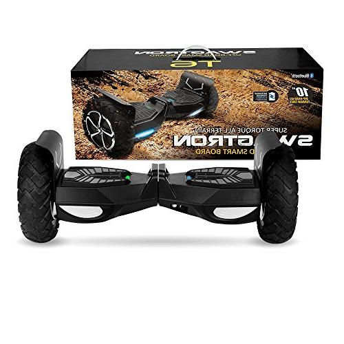 Swagtron Swagboard Off-Road First in The World Handle 380 LBS, Up UL2272 Certified,