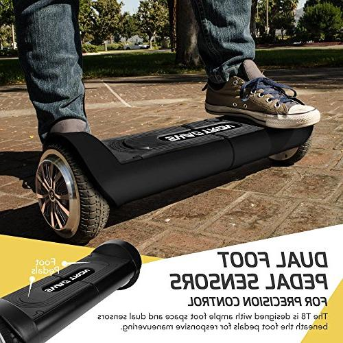 Swagtron 82082-2 T8 Lithium-Free Self Balancing Durable Metal Supports Up To Lbs Battery , Size
