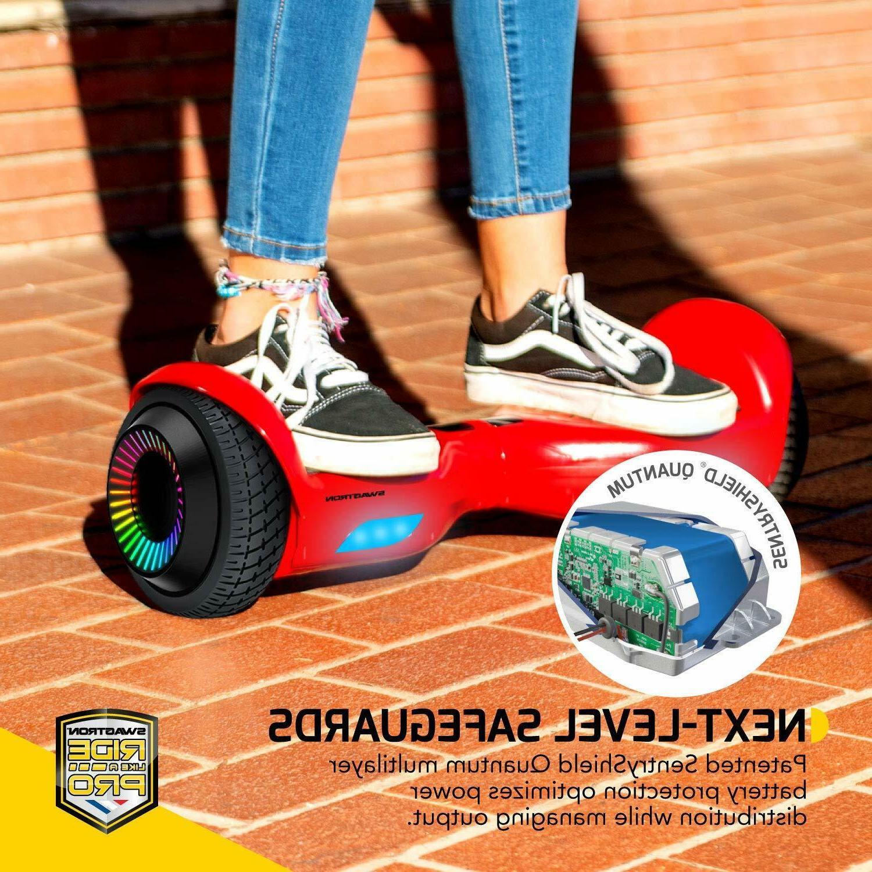 "Swagtron w/ LED 6.5"" Wheels Lithium-Free Dual 250W"