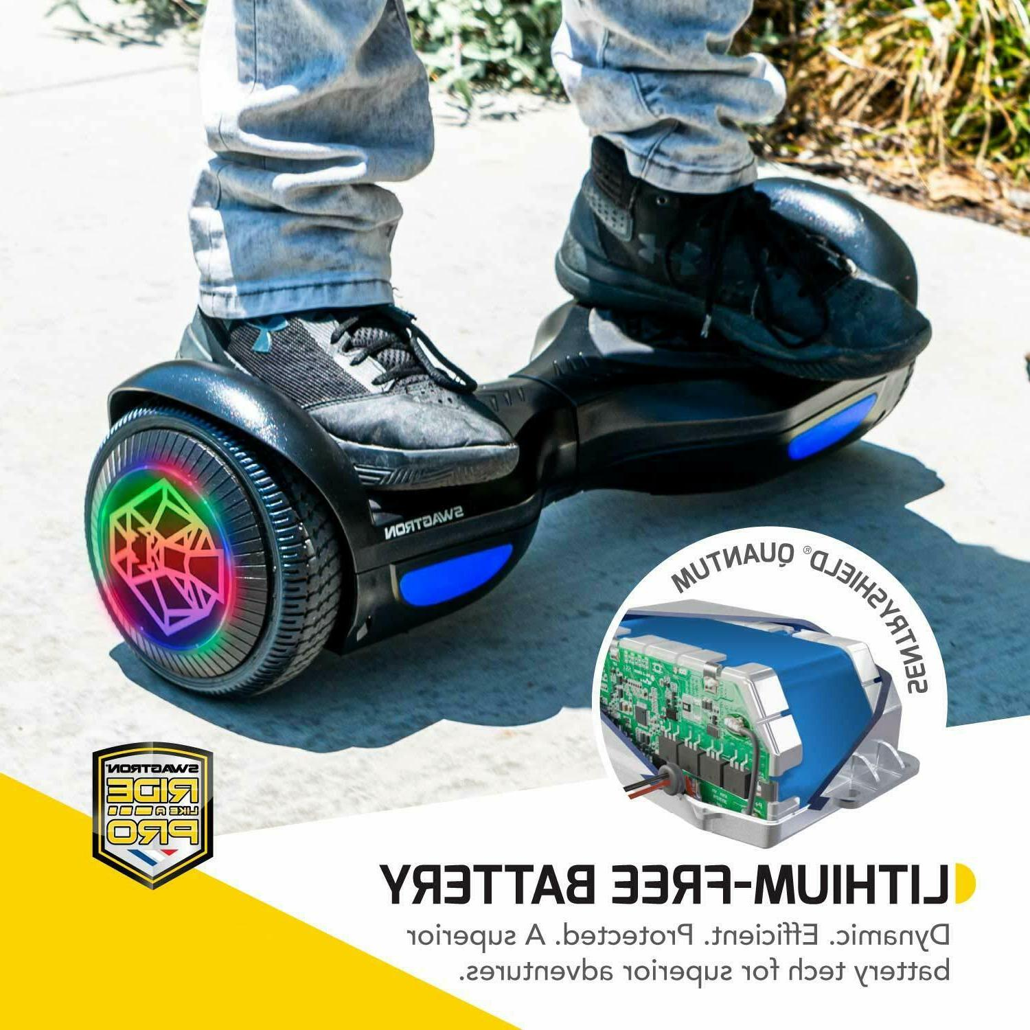 Swagtron Hoverboard 250W Lithium-Free Battery w/