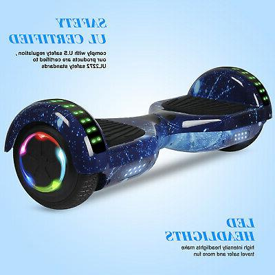 "UL2272 6.5"" Electric Hoverboard Self Scooter LED"