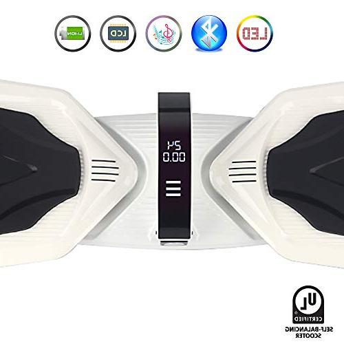 levit8ion Ultra Hoverboard Self-Balancing Wheel Scooter - UL Detachable 20 Battery, EZ with Night