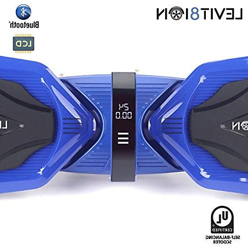 """Levit8ion Ultra 7.5"""" Self Electric Scooter Certified Detachable Samsung Battery, and Speed/Temp Screen Blue"""