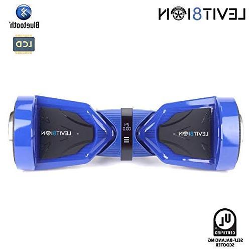 Levit8ion Ultra Self Balancing 2 Wheel Electric UL 2272 Certified Battery, App, Speed/Temp LCD Screen Blue