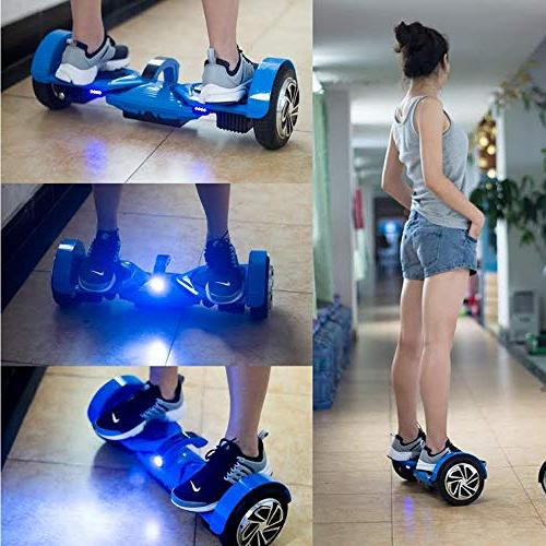 Levit8ion Ultra Self Balancing Wheel Electric Scooter UL Certified Detachable Battery, App, and Speed/Temp - Blue