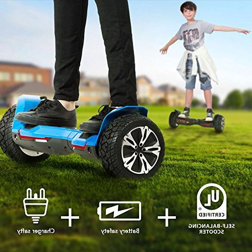 Gyroor 8.5 All Terrain Off Hoverboard with Bluetooth and LED Certified 2018
