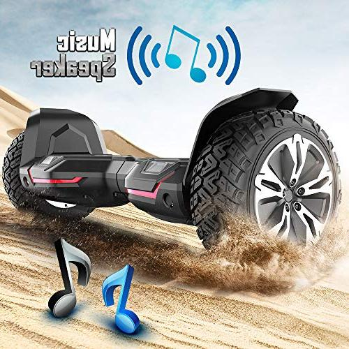 Gyroor Warrior All Terrain Hoverboard Speakers and LED Lights, UL2272 Certified Scooter 2018