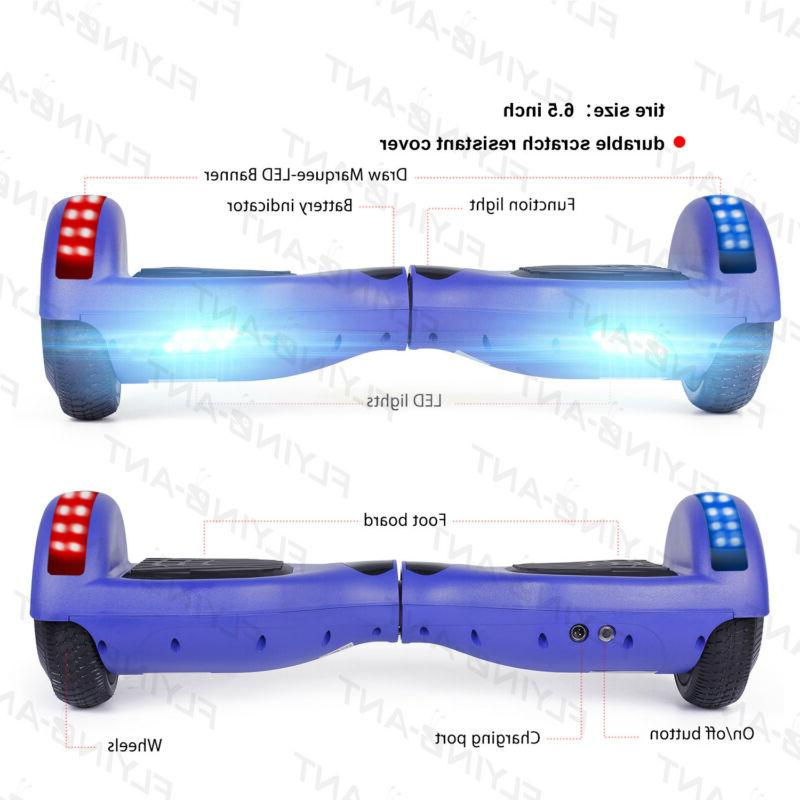 xtremepowerus LED Hover board Electric Self Balancing Scooter