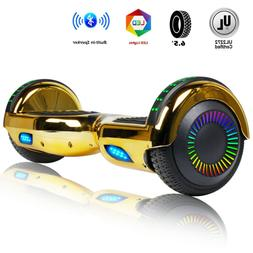 """New 6.5"""" Bluetooth Hoverboard Electric Smart Scooter W/ LED"""