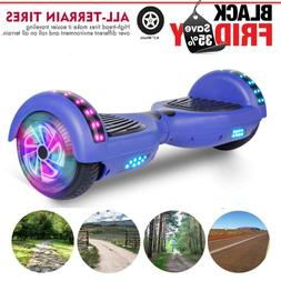 New 6.5 LED Chrome Hover board Hoverheart Electric Self Bala