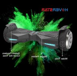 """NEW Black 6.5"""" Hoverboard with LED Lights! 400 Watts 10-20 m"""