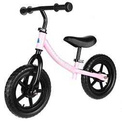 Pink Balance Bike for Kids & Toddlers - Boys & Girls Self Ba