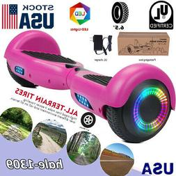 """Purple Hoverboard 2 Wheel Electric Self Balance Scooter 6.5"""""""